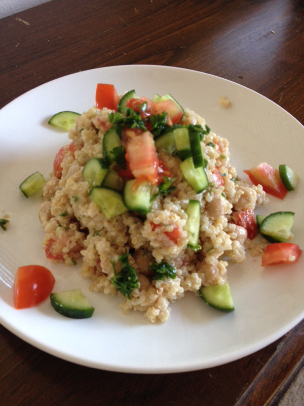 Easy Summer Dinner: Creamy Quinoa Salad